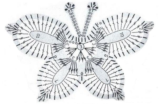 схема вязаной бабочки