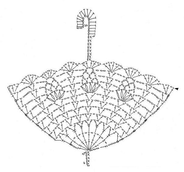 схема вязаного зонта