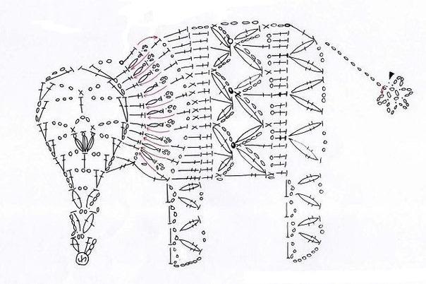 схема вязаного слона