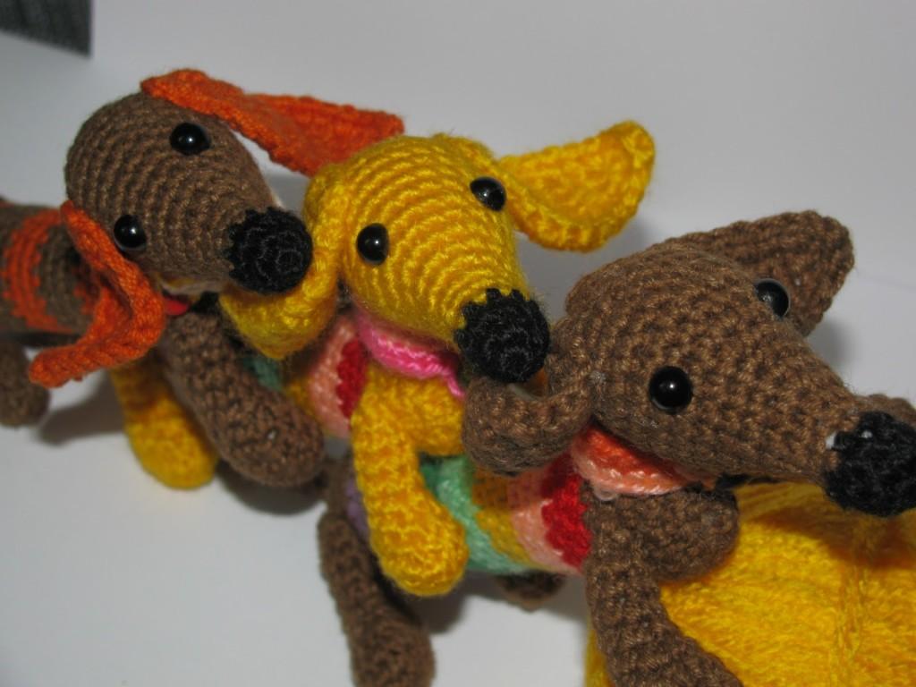 вязаная собака амигуруми