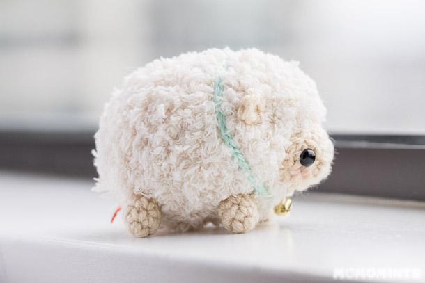 вязаная овечка амигуруми