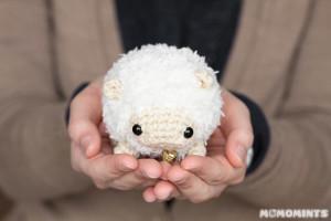 вязаная овца амигуруми