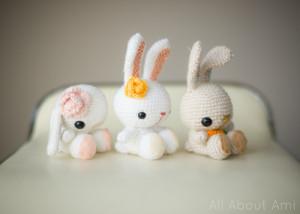 вязаный кролик амигуруми