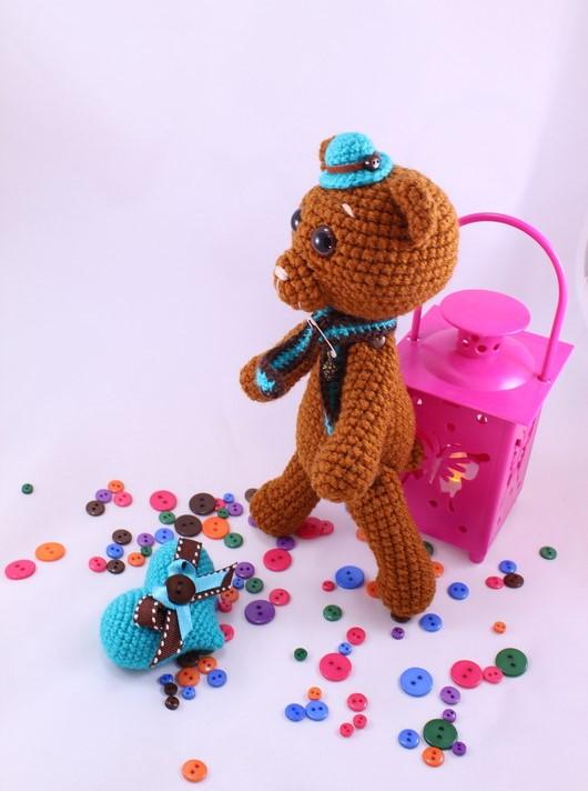 вязаный медведь амигуруми